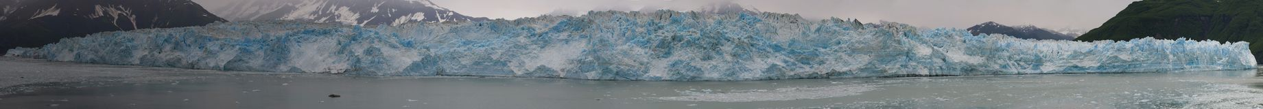 The Hubbard Glacier while melting, Alaska huge panorama Royalty Free Stock Image