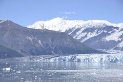 Hubbard Glacier. Snow-covered peaks tower over Hubbard Glacier Stock Photos