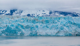Hubbard Glacier Under Misty Mountain Royalty Free Stock Photo