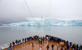 Hubbard Glacier View From Cruise Ship Stock Images