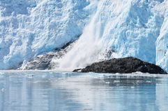 Hubbard Glacier. Watching the calving of Hubbard Glacier Stock Photography