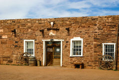 Hubbell Trading Post. National Historic Site is considered a meeting ground of two cultures between the Navajo and the settlers who came to the area to trade Stock Photo