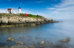 Hubble Light. Lighthouse on Cape Neddick in Maine Royalty Free Stock Photo