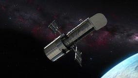 Hubble telescope above eart stock footage