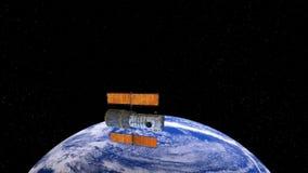 Hubble Telescope, Kosmische ruimtesatelliet vector illustratie