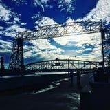Hubbrücke Stockfoto