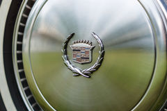 Hubcap of a full-size personal luxury car Cadillac Eldorado. Royalty Free Stock Photos
