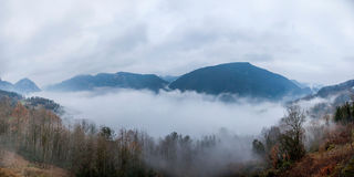 Hubei Badong Dazhiping River Valley sea of clouds Stock Image