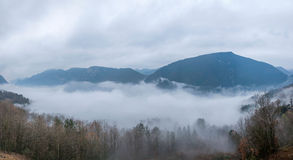 Hubei Badong Dazhiping River Valley sea of clouds Stock Photo
