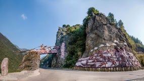 Hubei Badong le long de la ville du traqueur à grande échelle de ` de sculpture du ` d'âme Photos libres de droits
