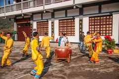Hubei Badong non-material cultural heritage folk song and dance, `Ye Yeer ho` combination. Hubei Changyang Tujia `Sa`er children ho`, is the middle reaches of Stock Photo