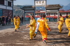 Hubei Badong non-material cultural heritage folk song and dance, `Ye Yeer ho` combination. Hubei Changyang Tujia `Sa`er children ho`, is the middle reaches of Royalty Free Stock Photography