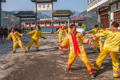 Hubei Badong non-material cultural heritage folk song and dance, `Ye Yeer ho` combination. Hubei Changyang Tujia `Sa`er children ho`, is the middle reaches of Royalty Free Stock Photos