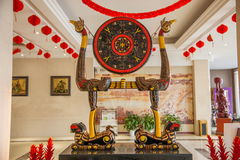 Hubei Hubei totem signs lacquer 'tiger bird frame drum' Royalty Free Stock Images