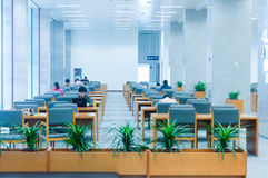 Hubei province library interior Stock Image