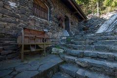 Hubei Yiling der Jangtse Three Gorges Dengying Xia im ` Three- Gorgesleute ` Ba-Wang-Häuschen lizenzfreie stockbilder