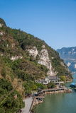 Hubei Yiling der Jangtse Three Gorges Dengyingxia in Longxi Stockfotos