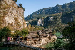 Hubei Yiling der Jangtse Three Gorges Dengyingxia in Longxi Stockfoto