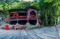 Hubei Yiling el río Yangzi Three Gorges Dengying Gap en el ` casado gritador del piso del ` de la muchacha de Tujia del río de Lo Foto de archivo libre de regalías
