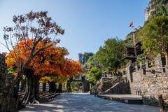 Hubei Yiling el río Yangzi Three Gorges Dengying Xia en la cabaña de Wang de los vagos del ` de la gente de Three Gorges del ` Imágenes de archivo libres de regalías