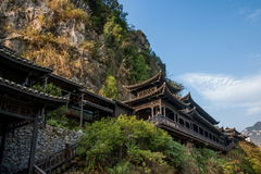 Hubei Yiling el río Yangzi Three Gorges Dengying Xia en la gente de la corriente del ` de la gente de Three Gorges del ` Foto de archivo libre de regalías