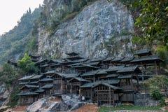 Hubei Yiling el río Yangzi Three Gorges Dengying Xia en la gente de la corriente del ` de la gente de Three Gorges del ` Fotografía de archivo libre de regalías