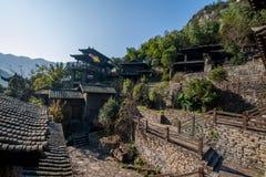 Hubei Yiling il fiume Chang Jiang Three Gorges Dengying Xia nel cottage di Wang di sedere del ` della gente di Three Gorges del ` Immagine Stock