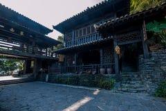 Hubei Yiling il fiume Chang Jiang Three Gorges Dengying Xia nel cottage di Wang di sedere del ` della gente di Three Gorges del ` Immagine Stock Libera da Diritti
