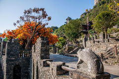 Hubei Yiling jangcy Trzy wąwozy Dengying Xia w ` Trzy wąwozie zaludniają ` półdupków Wang chałupę Zdjęcia Royalty Free