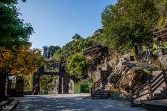 Hubei Yiling jangcy Trzy wąwozy Dengying Xia w ` Trzy wąwozie zaludniają ` półdupków Wang chałupę Obrazy Royalty Free