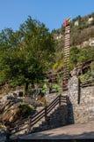 Hubei Yiling jangcy Trzy wąwozy Dengying Xia w ` Trzy wąwozie zaludniają ` półdupków Wang chałupę Fotografia Royalty Free