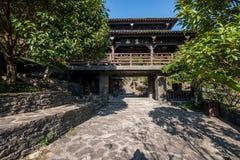 Hubei Yiling jangcy Trzy wąwozy Dengying Xia w ` Trzy wąwozie zaludniają ` półdupków Wang chałupę Zdjęcia Stock