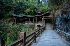 Hubei Yiling Trzy wąwozu Trzy wąwozu Dengying Gap w Trzy wąwozie Drogowych Zdjęcie Royalty Free