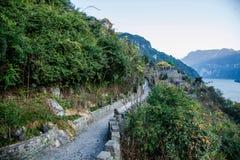 Hubei Yiling Trzy wąwozu Trzy wąwozu Dengying Gap w Trzy wąwozie Drogowych Zdjęcie Stock