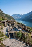Hubei Yiling Yangtze River Three Gorges Dengying Xia in the `Three Gorges people` Ba Wang cottage Stock Photo
