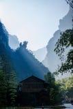 Hubei Zigui Trzy wąwozów Tianshui Bambusowy Denny wąwóz Zdjęcia Stock
