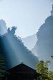 Hubei Zigui Trzy wąwozów Tianshui Bambusowy Denny wąwóz Zdjęcie Stock
