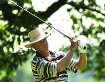 Hubert Green. Professional Golf star Hubert Green.  Image taken from color slide Royalty Free Stock Photography