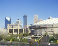 Hubert H. Humphrey Metrodome, Minneapolis, MN Stock Image