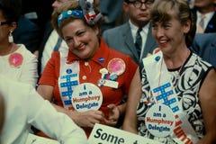 Hubert Humphrey Supporters stock fotografie