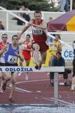 Hubert Pokrop all'euro riunione di atletismo a Praga Fotografie Stock Libere da Diritti