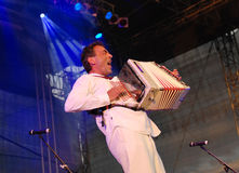 Hubert von Goisern performs on stage Royalty Free Stock Photos