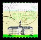 Hubertusburg和平条约, serie 250th周年,大约201 免版税库存照片