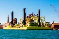 Hubinselschiff in Venedig, Italien Stockfotos