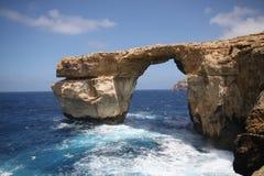 Hublot azuré, île de Gozo, Malte Images libres de droits