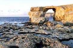 Hublot azuré, Malte Photos stock