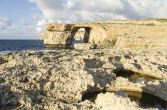 Hublot azuré, Malte Photos libres de droits