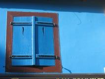 Hublot bleu Photo stock