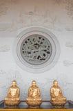 Hublot chinois de temple image stock