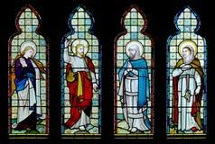 Hublot d'église en verre souillé Photos libres de droits